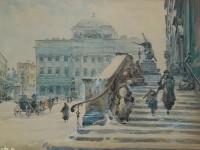 Городской пейзаж.Польский художник Wladyslaw Chmielinski.  Прочитать целикомВ.