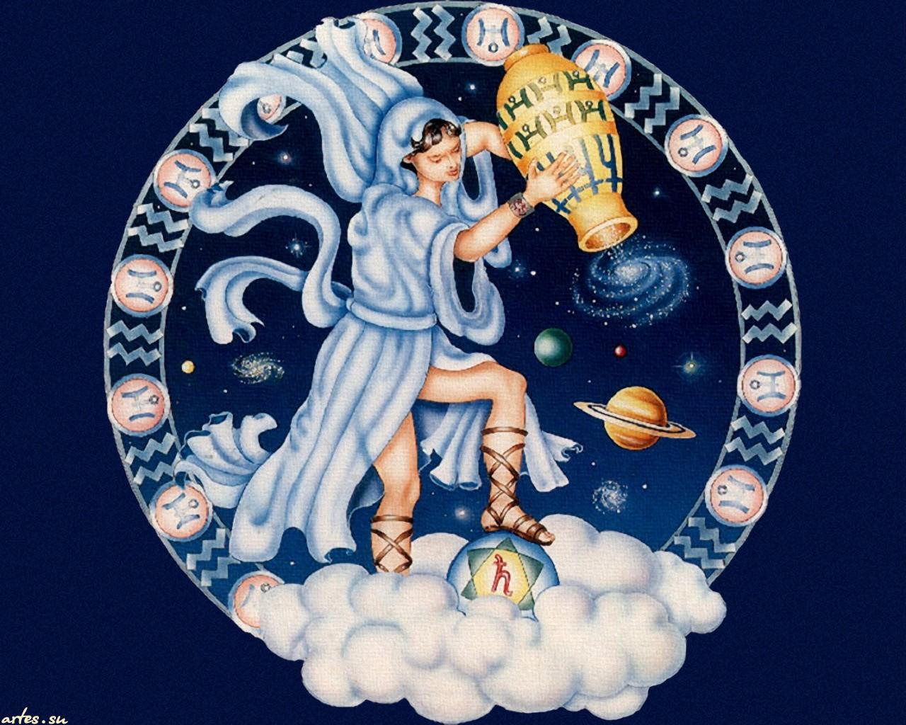 Скачать обои Водолей, Знаки Зодиака 800x600.