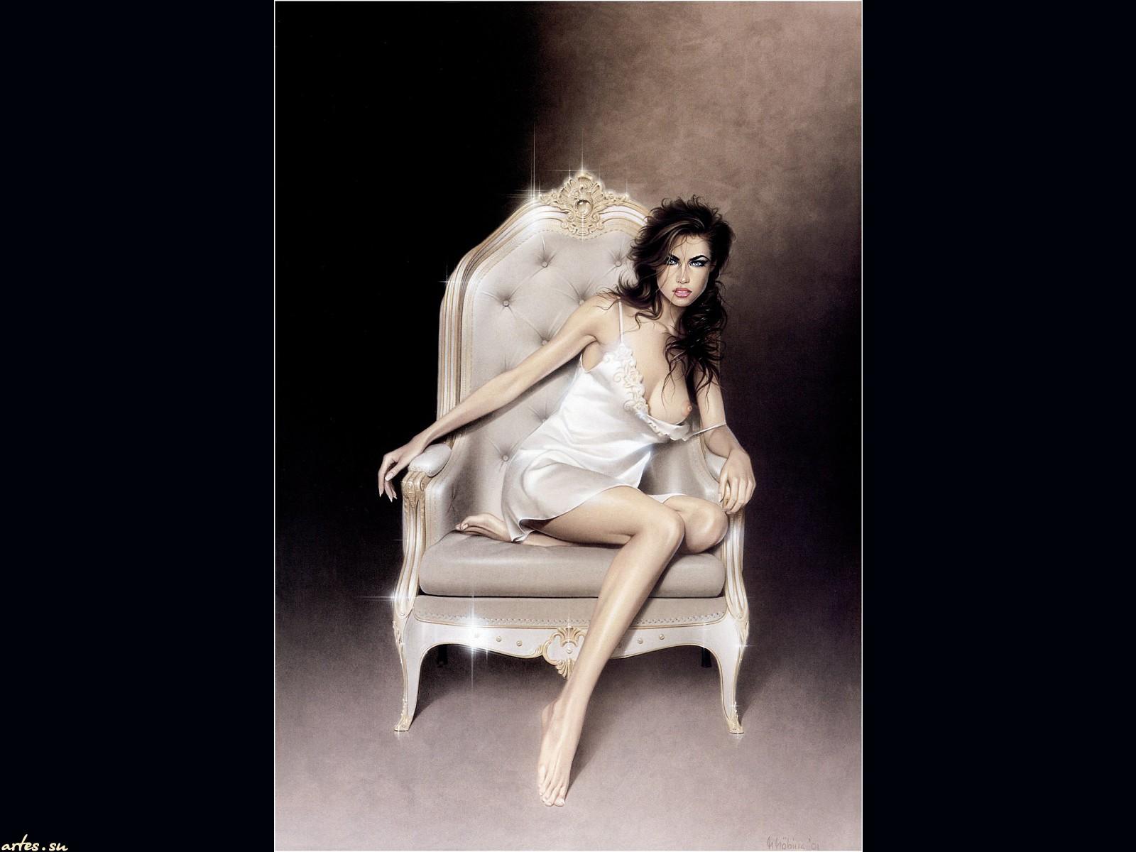 Фото девушки на кресле 15 фотография