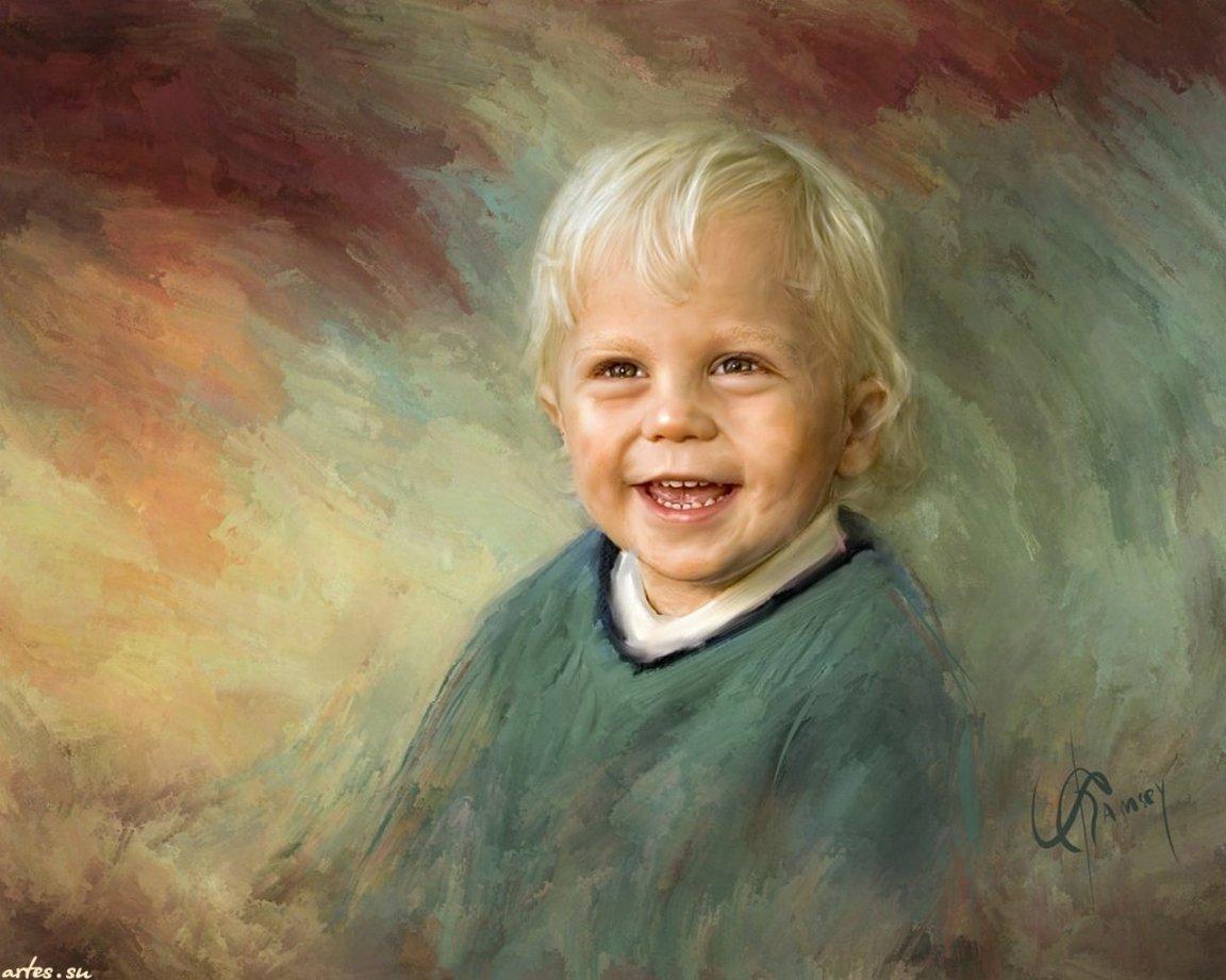 Портрет ребёнка по фото