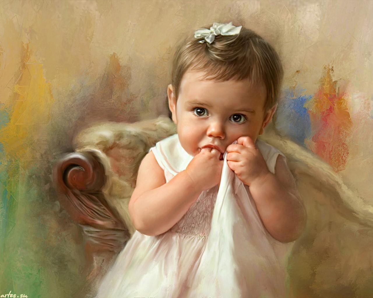 Красивые фото с детьми рисунки