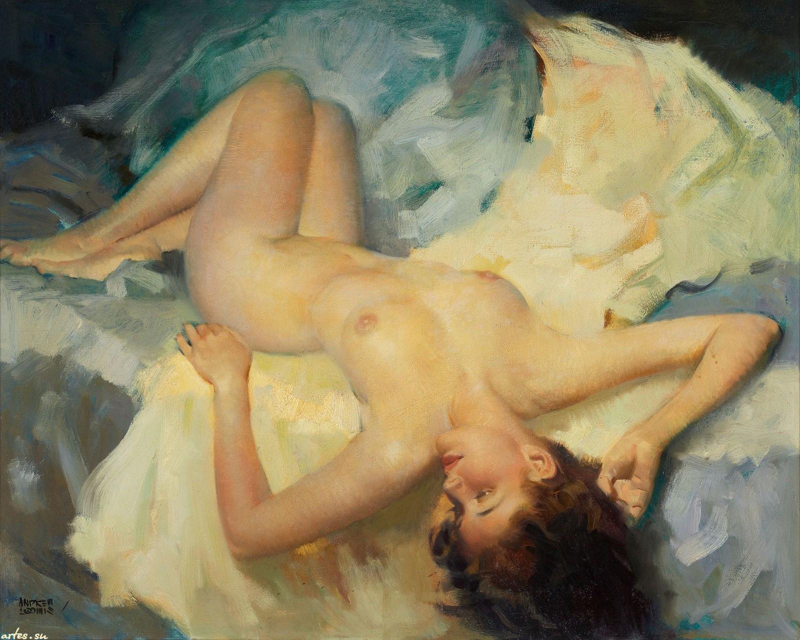 Художники рисуют голых девушек 6 фотография