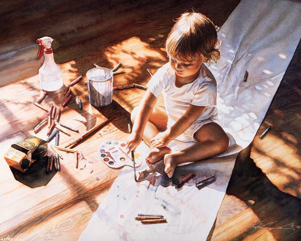 Живопись для детей фото