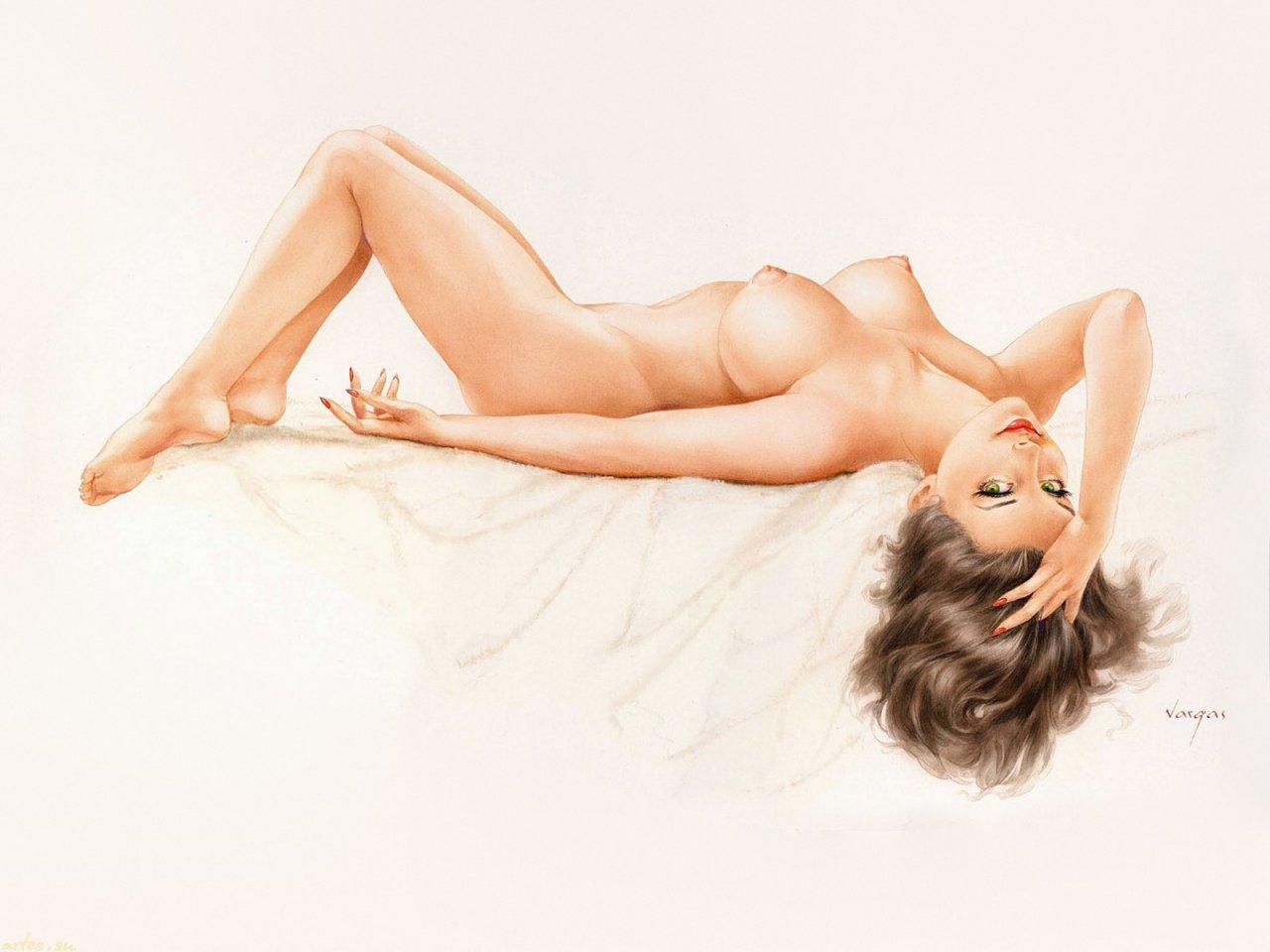 Рисованные голые женщины смотреть бесплатно, Смотреть порно рисованные картинки 12 фотография