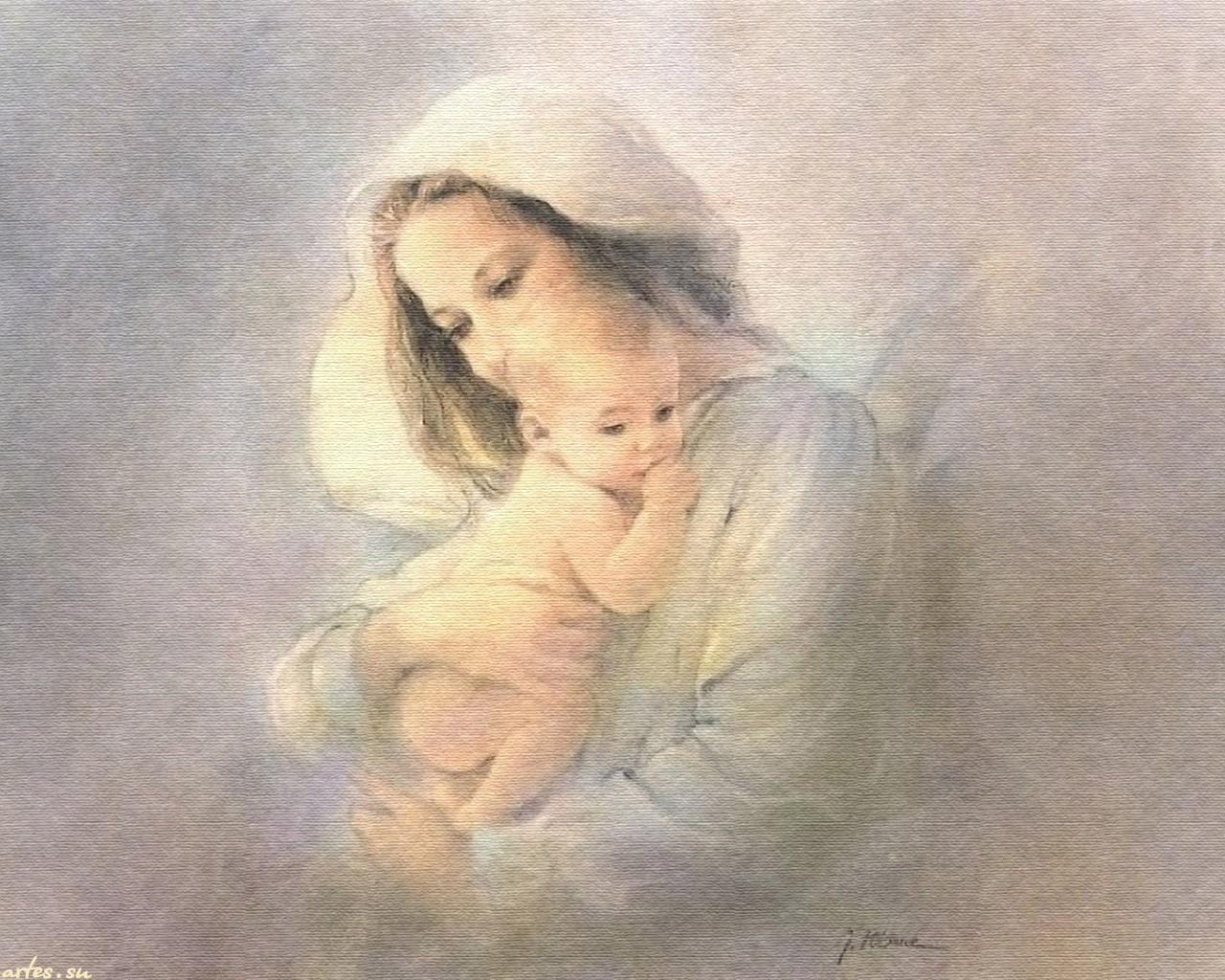 Картинки мама с младенцем