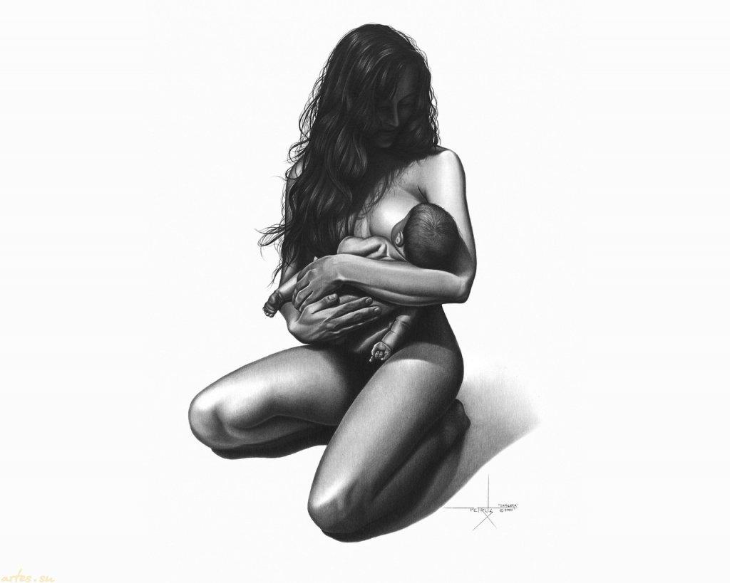 Рисованные картинки голых девушек карандашом 11 фотография