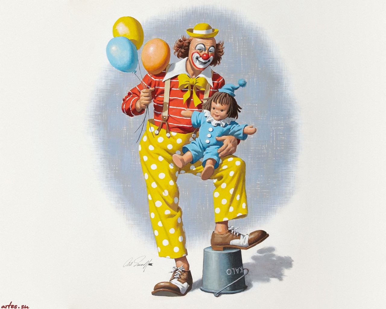 картинки клоун нарисованные