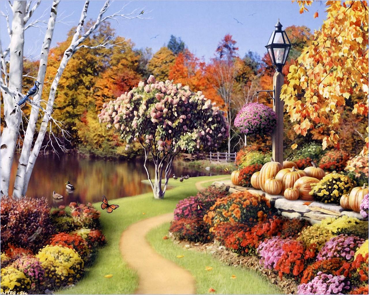 Картинки для рабочего стола осенний пейзаж