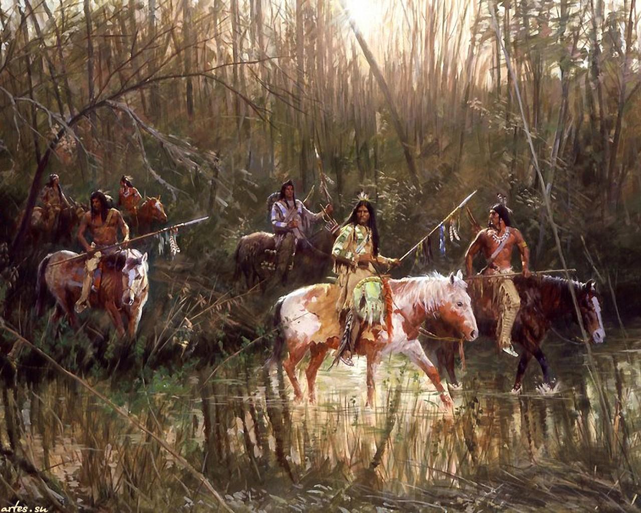Индейцы рисованные