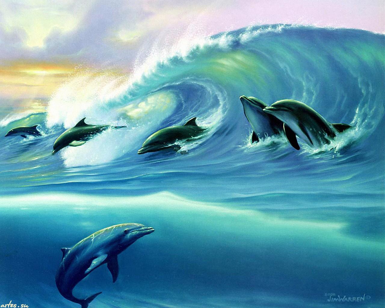 Волны рисованные картинки