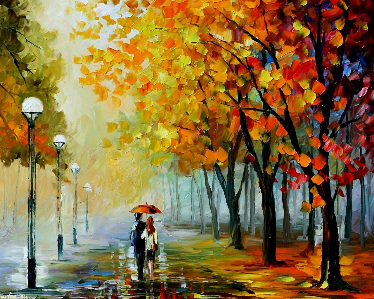 картинка осенний дождь