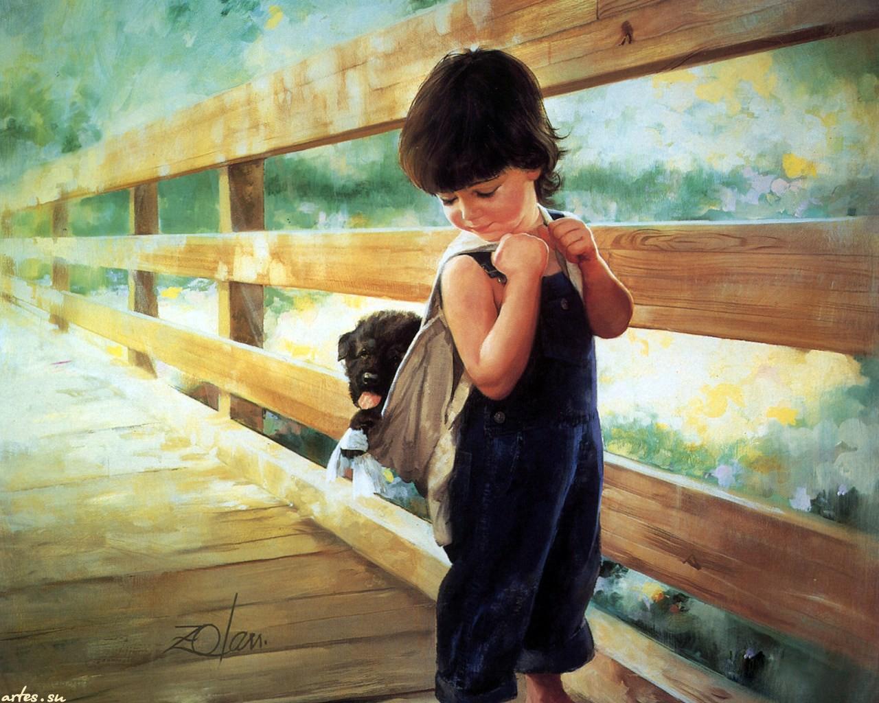 Современные художники рисующие детей