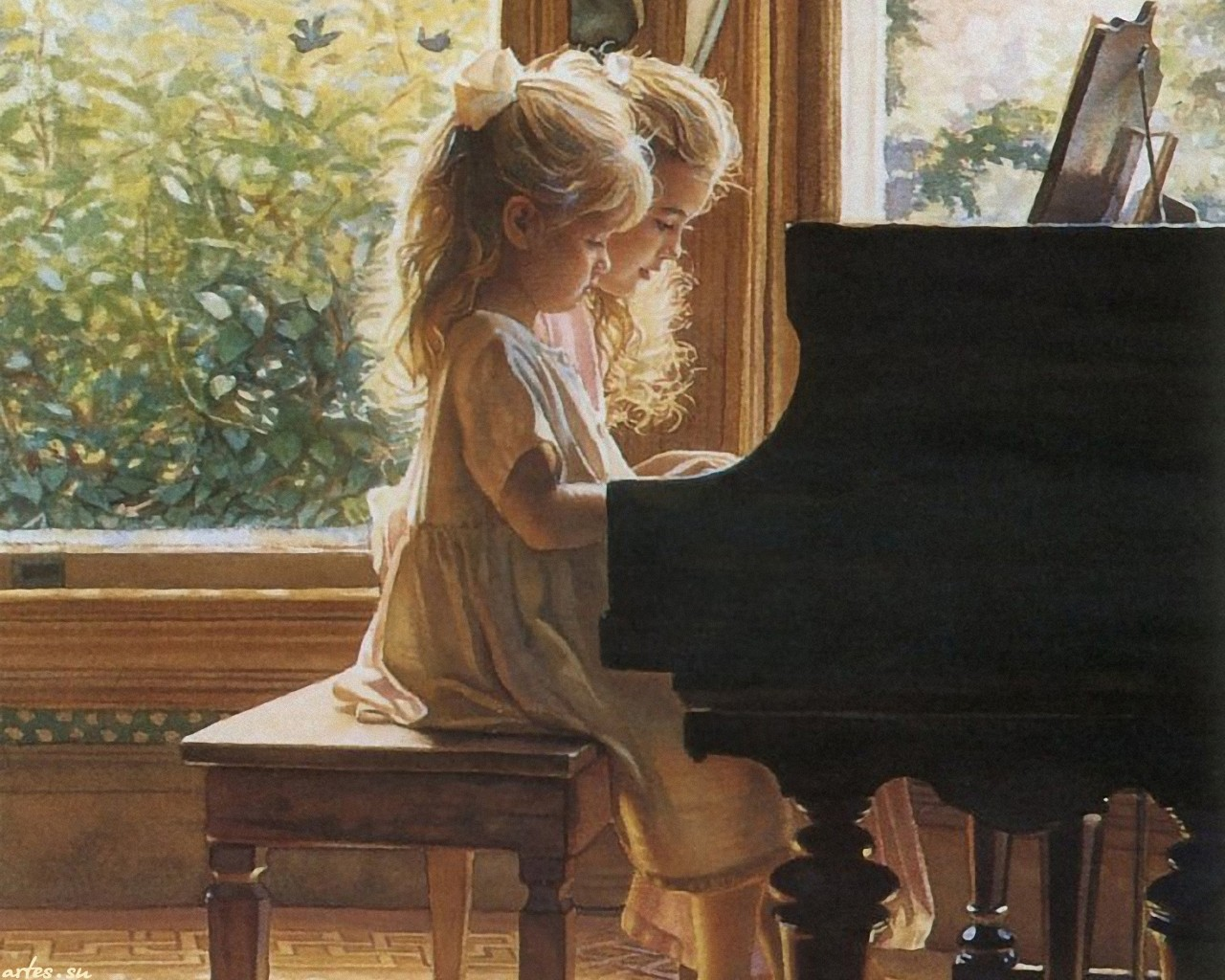 Фортепиано картинки черно белые