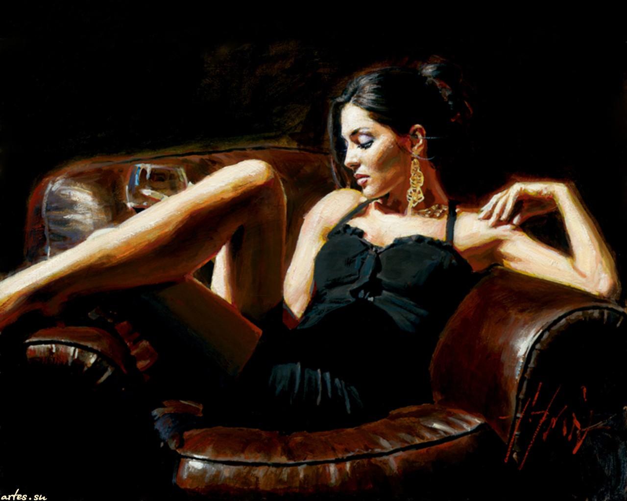 Фото девушки на кресле 9 фотография